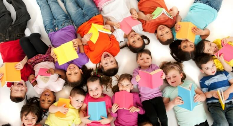 group of kids reading iStock_000019930325Small
