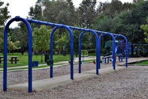 swings in a playschool playground